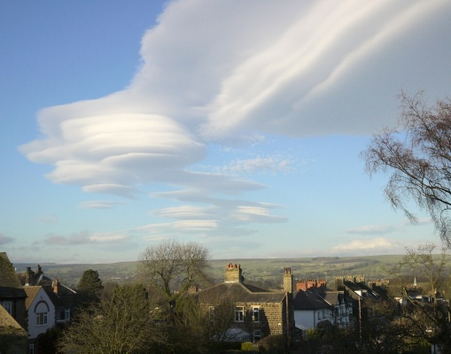 View from my kitchen window - lenticular clouds