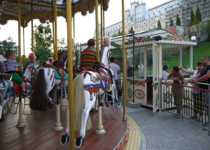 Carousel in the Palas Mal park, Iasi
