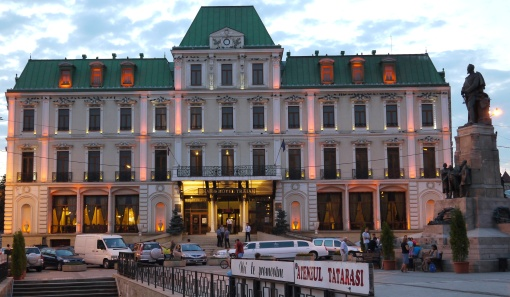 Grand Hotel Traian, Iasi, at twilight