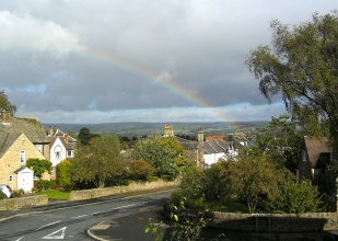 view from my bedroom window over the Wharfe valley