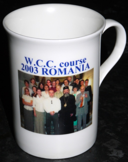 World Council of Churches English course, 2003, Iasi, Romania, commemorative mug