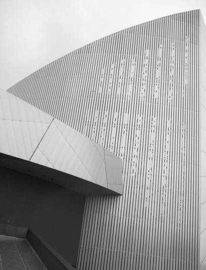 Picture showing minimal geometry of the National War Museum, Manchester