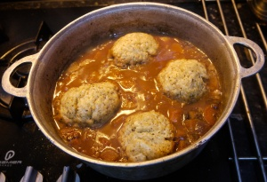Beef stew and dumplings, my answer to Thursday's frosty weather