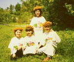 Raluca, Alina and Ramona, l to r, with Ancuta behind. Four of the 'Bunnies', my delightful special needs class from School no.11, Suceava, in 1994. They are wearing T-shirts from a special needs school in Pensacola, Florida, with which the Bunnies did an email project (despite the headmaster's attitude which was that I was wasting my time trying to do such a thing with them. He had to eat his words, but more of that in a future post about the delights of teaching English in Romania.