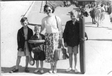 1951. A day trip to Bridlington, not a holiday as the next picture was taken on the same day and a neighbour is with us with his daughter