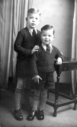 3 December 1946 (this studio shot is dated). Little brother was around, 1.1/2 yrs old, but omitted from this picture