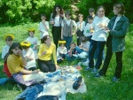 The Allstars also formed themselves into a Leo Club, 'adopting' a special needs class (the Bunnies) in another school. Here they are shown on a picnic the Allstars organised for the Bunnies