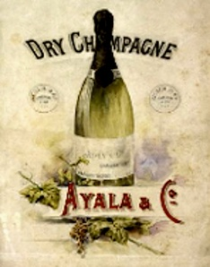 Ayala Champagne; an advertisement from when it was a small, independent house