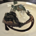 Wild mushrooms with a poached egg