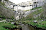 Malham Cove, N Yorkshire from close to the rock fae