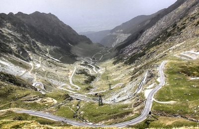 Part of Transfagarasanul, the trans-Fagaras mountains highway, over 100 miles long in all