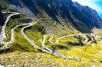 picture showing some of the hairpin bends on the trans-fagaras highway