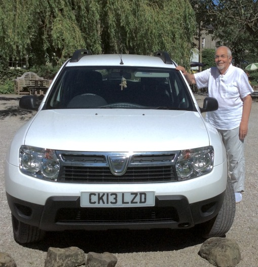 Dusty the Dacia with me in Wath in the Wath valley.