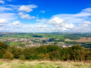 View of Otley from the top of the Chevin