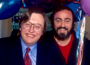 Pavarotti with David Mellor