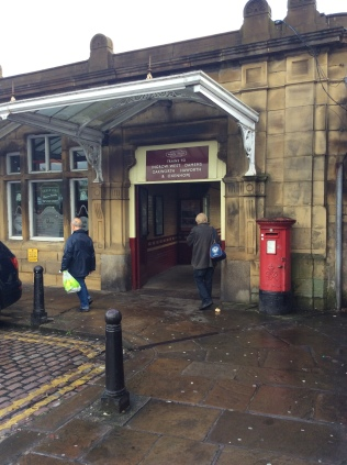 The entrance to the Worth Valley Railway platform, platform 4, at Keighley station.