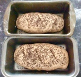 Briefly kneaded, divided in two, shaped and in the bread tins