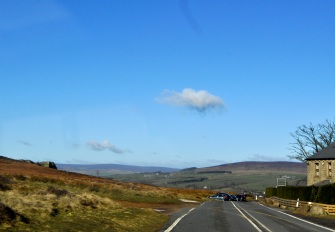Ten minutes from leaving home, about to descend into Ilkley past the Cow&Calf rocks