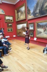 Ruxandra, founder of our writers' club 'Writing on the Wharfe' introduces the project to an audience of about 60