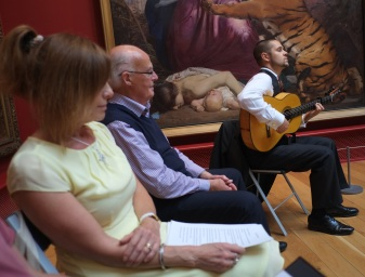 Sam plays what David's story and the ffiord painting evokes for him. Jo waits to deliver her story next.