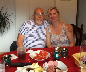 With Paula, my pupil a quarter of a century ago, in her home in the beautiful Bistrița valley