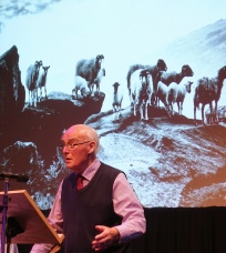 David told a tale of the creations of Rombald the giant - sheep - in a delightful poem delivered in David's inimitable style