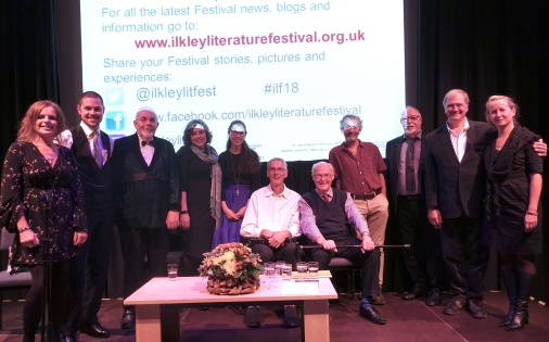 The inevitable 'group photo' after the performance - l to r: Jo, Sam, me, Kayla, Ruxandra, James, David, Bob, Joen and Martin