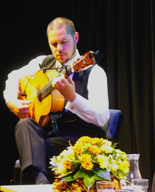 Samuel Moore playing one of his 'Evocations'