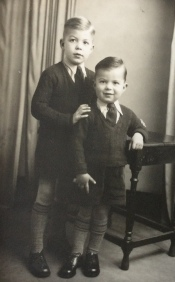 Studio photo of me and my younger brother